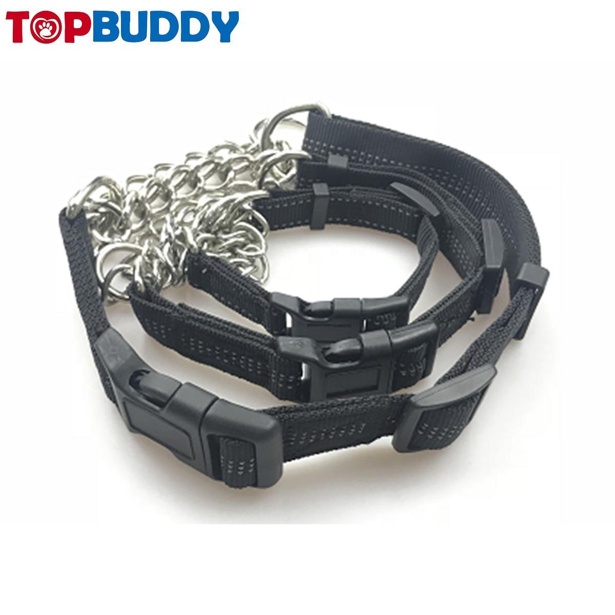 Pet Supplies Dog Nylon Iron Chain Neck Ring And Medium-sized Dog Anti-Bite Dog Chain Dog Neck Ring Dog Extendable Xun Gou Lian