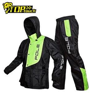 Image 1 - POLE Waterproof Motorcycle Raincoat Suit Raincoat+Rain Pants Poncho Motorcycle Rain Jacket Motorbike Riding Rain Coat Motorcycle