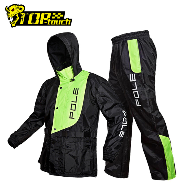 POLE Waterproof Motorcycle Raincoat Suit Raincoat+Rain Pants Poncho Motorcycle Rain Jacket Motorbike Riding Rain Coat Motorcycle