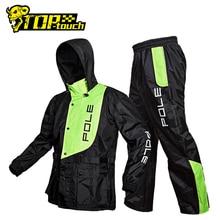 Traje impermeable para motocicleta con pértiga, impermeable y pantalones de lluvia, Poncho, chaqueta de lluvia para moto, abrigo de montar para la lluvia