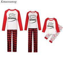 Autumn Family Christmas Pajamas Kids&Mom&Dad Long Sleeve Pjs Matching Xmas Sleepwear E0520