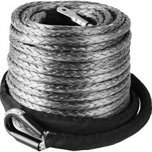 VEVOR 10mm*28m Winch Rope ATV UTV Synthetic Line Cable 3/8