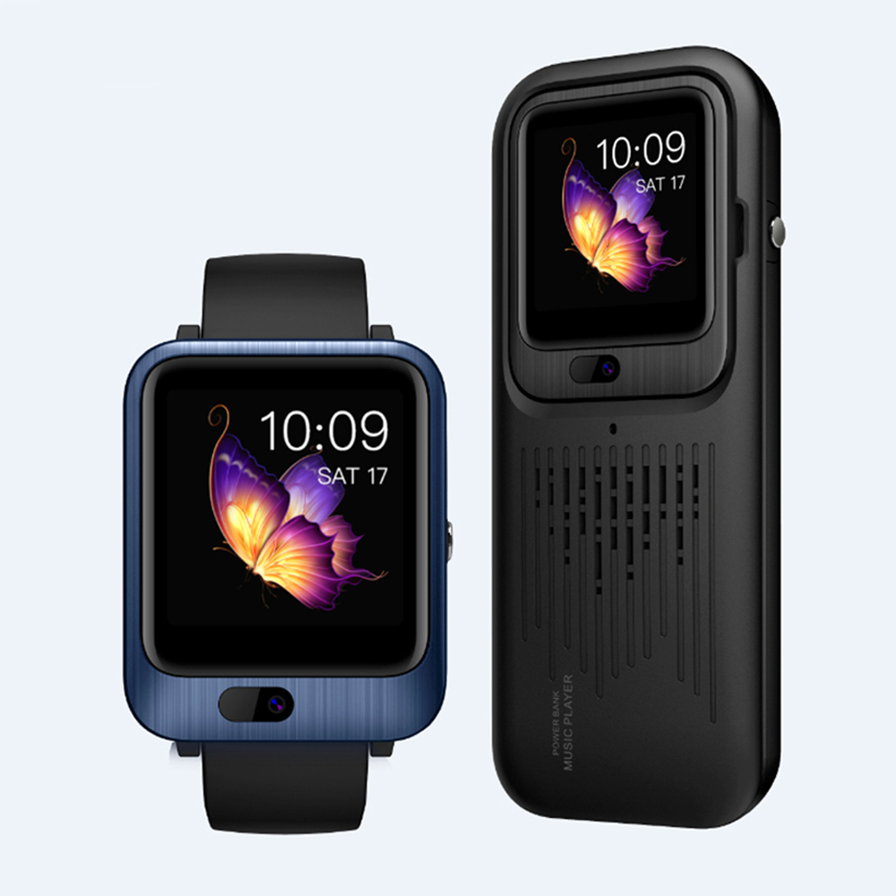 LEM11 4G Android 7.1.1 <font><b>Smart</b></font> <font><b>Watch</b></font> 3GB+32GB GPS GSM WIFI Front Camera Waterproof 600mAh Sport <font><b>Watch</b></font> With Power Bank Music Player image