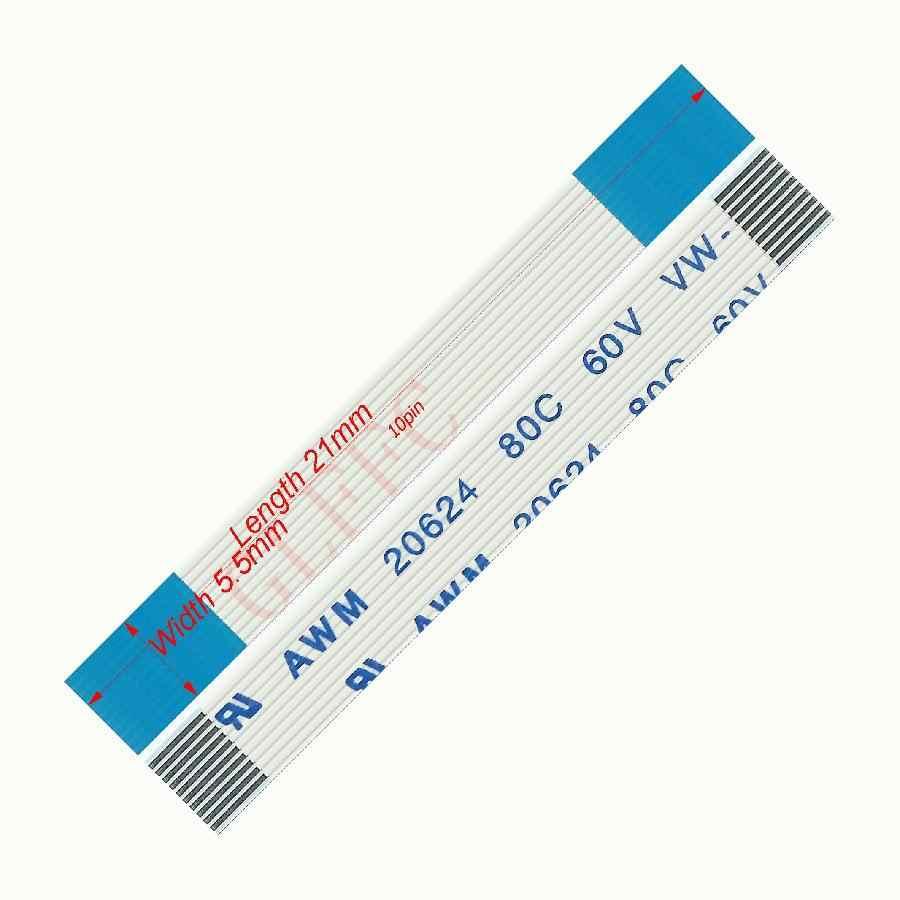10pin 0.5 lancement 21mm-250mm a-type câble plat Flexible FFC awm 20624 ROHS pour ordinateur DVD LCD TTL