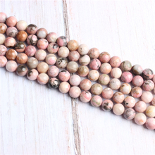 Rose Stone Natural Stone Beads For Jewelry Making Diy Bracelet Necklace 4/6/8/10/12 mm Wholesale Strand
