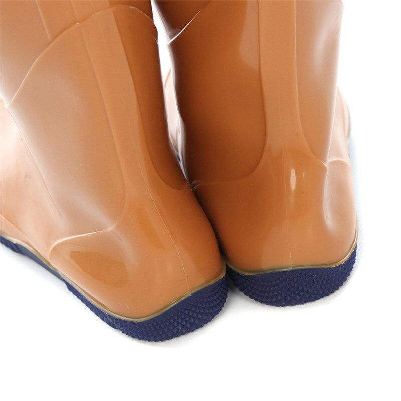 sapatos anfíbios sobre o joelho botas de