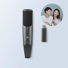 JUNLIN MICRÓFONO INALÁMBRICO inteligente para grabar, micrófono condensador de monitoreo para karaoke, TV, teléfono móvil
