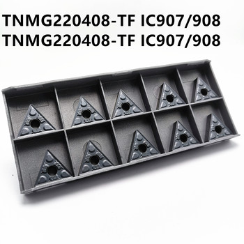 Tungsten carbide TNMG220408 TF IC907 / IC908 external turning tool milling cutter TNMG 220404 carbide insert CNC lathe cutter 11ir 16ir 1 0 iso 1 25 1 5 1 75 2 0 2 5 3 0 ic908 thread turning tools tungsten carbide insert of cnc lathe cutter