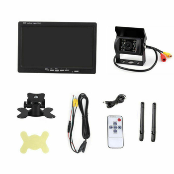 """Waterproof Durable Night Vision Reversing Camera Bus Car Easy Install Parking System Wireless Rear View 7"""" LCD Monitor Truck"""