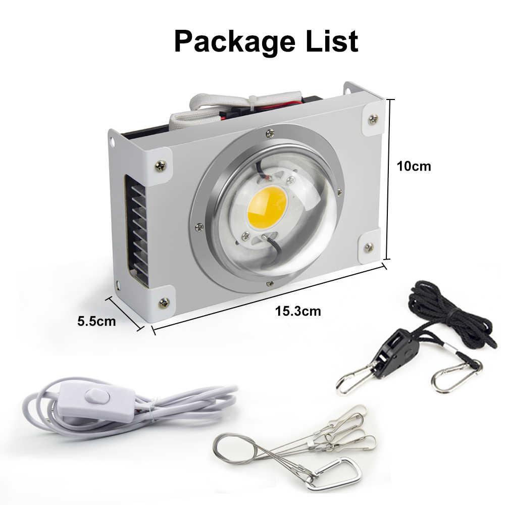 CF GROW COB LED Luz de crecimiento espectro completo CXB Series100W LED Citizen lámpara de cultivo para tienda de interior invernadero planta hidropónica
