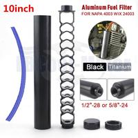 10inch 1/2 28 5/8 24 Black Titanium Thin Thick Auto Car Fuel Trap Solvent Filter For NAPA 4003 WIX 24003 Filter Parts