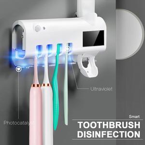 Rack Toothpaste-Dispenser Sterilize Home-Cleaner Bathroom Solar-Energy Automatic Antibacteria