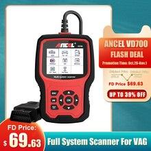 אנצ ל VD700 OBD2 סורק אבחון כלי עבור VAG שמן ABS EPB DPF SRS איפוס TPMS OBD רכב סורק רכב אבחון כלי