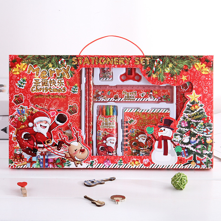 Christmas Stationery Set Creative Children Scriptum Young STUDENT'S Christmas Gift Holiday Activity Prizes