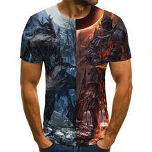 New summer 3d printed animation t  shirt digital men / women