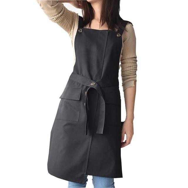 צללית חדשה מעצב סינר מתכוונן יוניסקס סנדלר מדים עם כיסים אמנות חלוק סינרי נשים קוסמטיקאיות עבור Workwear