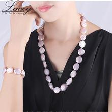 12 13 мм Большой жемчуг ожерелье наборы для женщин натуральный