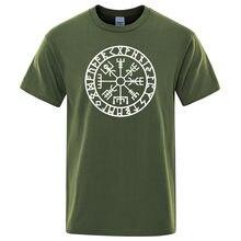 Homens Vikings Odin Guerreiro Camiseta Lenda Puro Topos de Algodão T Dos Homens Da Novidade de Manga Curta Crewneck T Verão de Algodão Mens Camisetas