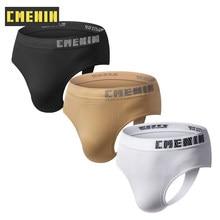 3Pcs/lot Solid Seamless Low waist CMENIN Gay Men Sexy Underwear Thong Men Jockstrap Porn man Mens Thongs And G strings CM103