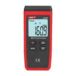 UNI T UT373 Mini cyfrowy obrotomierz laserowy bezdotykowy obrotomierz obr/min zakresie 10 99999 obrotomierz licznik kilometrów Km/ h podświetlenie w Przyrządy do pomiaru prędkości od Narzędzia na