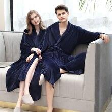 Зимний халат для мужчин и женщин Мужская Фланелевая модель Пижама