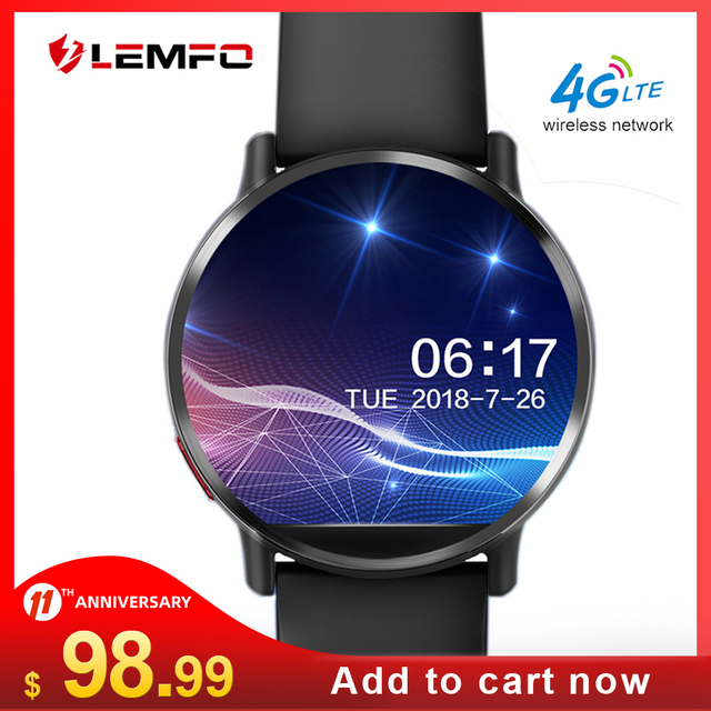 LEMFO LEM X Smart Watch 4G Android 7.1 8MP Camera GPS 900Mah Battery Replacement Strap 2.03 inch 640*590 Screen Android Men LEMX 1