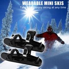 Unisex Winter Ski Skates Shoes Skiboard Mini Snowblades for Outdoor Sports Skiboard Snowblades