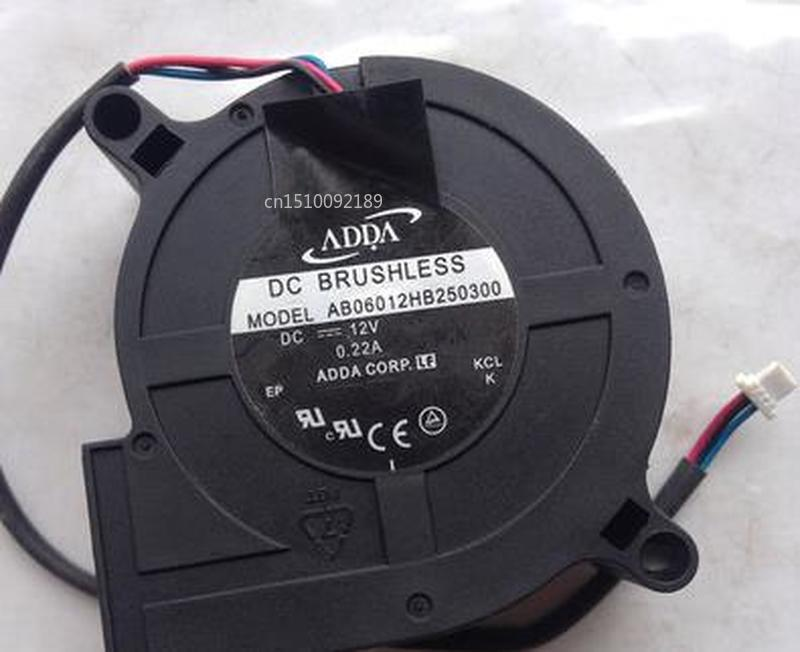 FOR ADDA AB06012HB250300 6025 6cm 12v 0.22a Projector Blower Cooling Fan Free Shipping