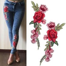Sew-On-Patches Trousers Badge Craft Embroidery Applique Roses/butterfly-Flowers New-Brand