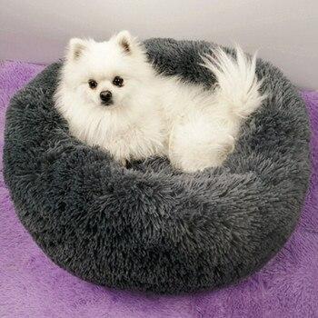 Casa de perro Gato cómoda Perrera de felpa perros arena para mascotas sueño profundo Pv arena para gatos Cama para dormir perros mascotas accesorios Cama Gato