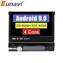 Eunavi אוניברסלי אחד 1 din אנדרואיד 9 מולטימדיה לרכב נגן dvd רדיו אודיו אוטומטי gps ניווט 1din headunit bluetooth wifi usb