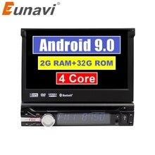 Eunavi universel 1 din Android 9 voiture lecteur multimédia dvd radio audio auto gps navigation 1din headunit bluetooth wifi usb