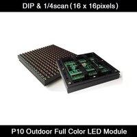 Panel LED a todo Color para exteriores, RGB, P10, DIP 1/4, 16x16 píxeles, P10, Módulo De Pantalla LED, 160x160mm, envío gratis