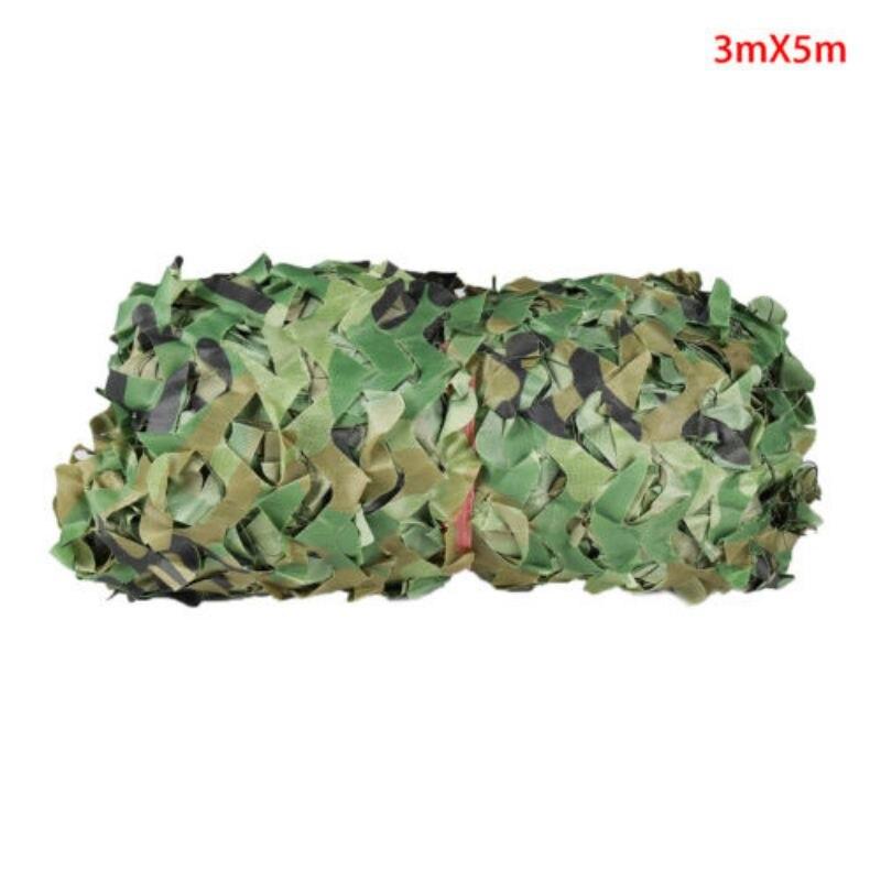 3x5M Camouflage filet armée entraînement Camo crème solaire Net bâches de voiture militaire Camping soleil abri tente pour la chasse cacher