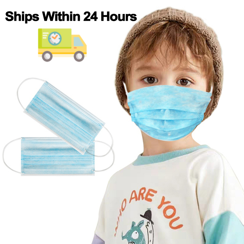 20 PCS In Stock Fast Delivery 3 Layer Disposable Protective Mask To Prevent Disease Masks Dust Proof Kids Mask Children Mask