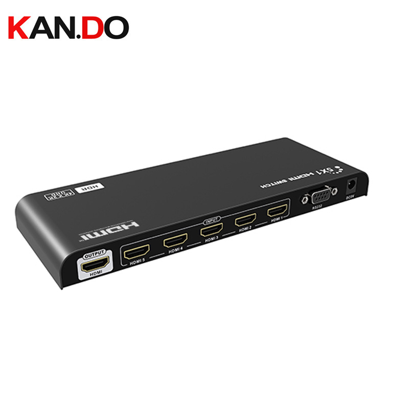 LKV501HDR-V2.0 5×1 HDMI2.0 HDR Switch 4Kx2K@60Hz Simultaneous Connection Of Multiple HDMI Device IR Receiving Window RS 232
