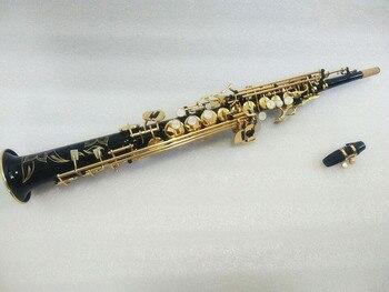 New high quality soprano saxophone Straight soprano Sax Model Black saxophone Mouthpiece and case фото