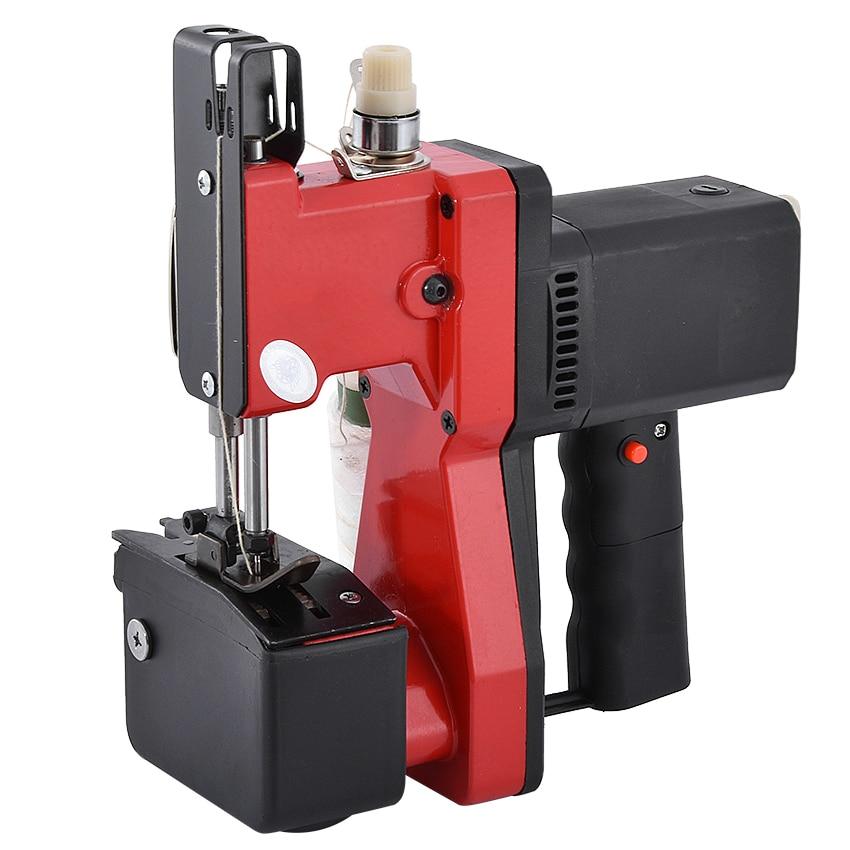 Aletler'ten Elektrikli Alet Setleri'de GK9 668 otomatik taşınabilir küçük çuval dokuma çanta paketleme makinesi çuval yakın Mini elektrikli pirinç çuvalı DİKİŞ MAKİNESİ 220V title=