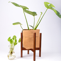 1PC Retractable Indoor Plant Flower Pot Planter Stand Assembly Wood Holder Wooden Floor Potted Rack For Home Decor Plants Stands