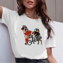Tops T Shirt Women akita Summer Harajuku Print Female Tshirt