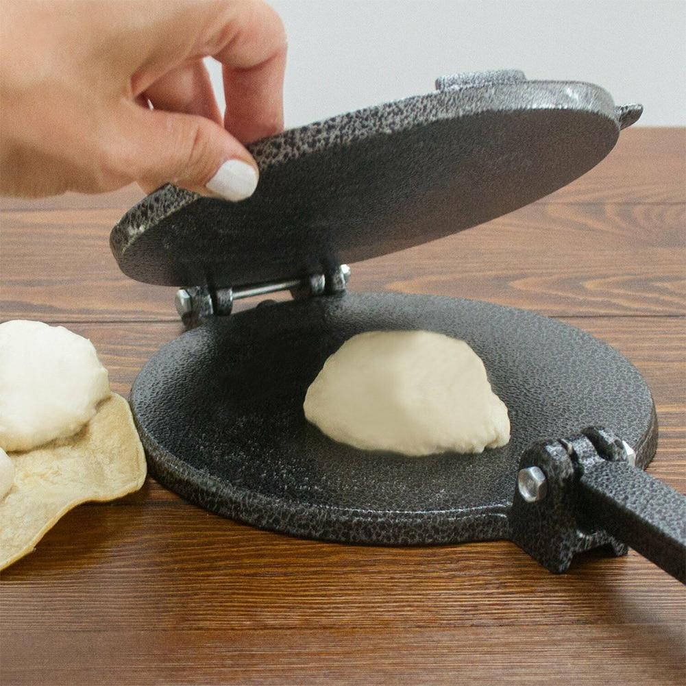 8 zoll Home Küche Esszimmer Presse Backformen Werkzeug DIY Aluminium Tortilla Maker Mexiko Faltbare Mold Einfach Sauber Gebäck Mit Griff
