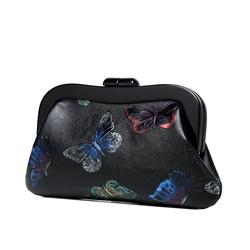Bolsa de marco de acrílico negro con mango de plástico para monedero con accesorios de piezas de bolsa de 23,5*7 cm de fábrica de China suministro de manejar