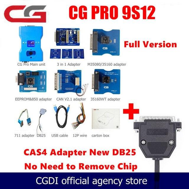 Programador CGDI CG Pro 9S12 Freescale para BMW OBD2, nueva generación de escáner de programación de clave automática CG100, versión estándar, 2020