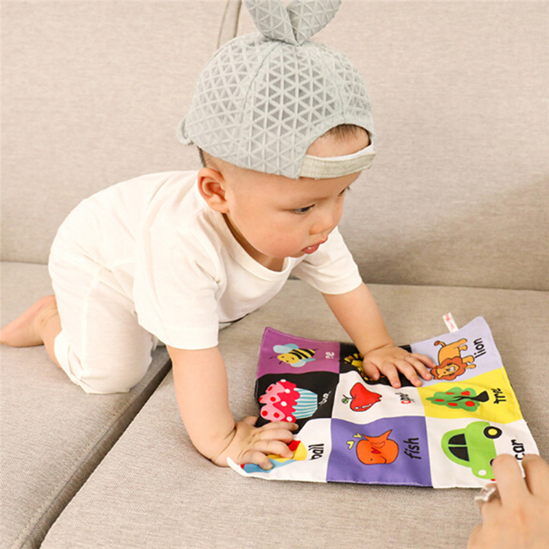 1PC Colorful Cloth Book Baby Infant Newborn Toys Kids Early Education Toys Children Unfolding Activity Books Gifts 991560