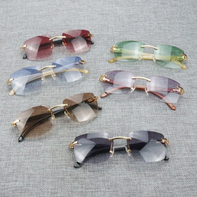 Новые фирменные дизайнерские мужские Квадратные Солнцезащитные очки негабаритных солнцезащитных очков прозрачные металлические золотые ... - 5