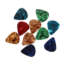 10 pcs Stylish Colorful Celluloid Guitar Pick 0.71mm 0 96mm heavy light green blank celluloid apparent transparent guitar pick