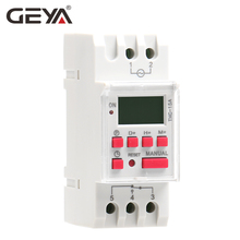 GEYA THC-15 Time Switch Weekly Programmable DIN Rail LCD Digital Timer Switch 16A ACDC 12V 24V 110V 220V 240V ahc15 ac 220v digital lcd power timer programmable time switch relay 25a 16a good temporizador with din rail good quality