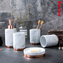 Пять штучный керамический набор для ванной комнаты nordic светильник