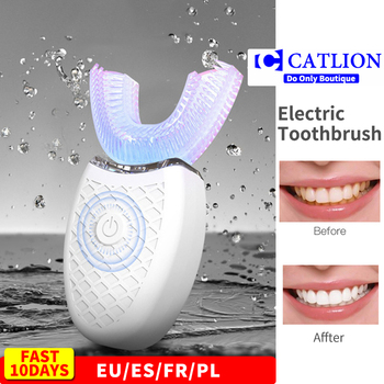 Ultrasonic electric toothbrush 360 nano silicone u shaped oclean x pro automatic usb rechargeable wireless teethbrush children - discount item  58% OFF Personal Care Appliances