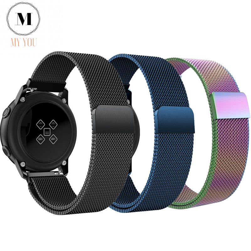 20 22mm Strap For Samsung Gear Sport S2 S3 Frontier/Classic Galaxy Watch Active 46 42mm Watch Band Huawei GT 2 Huami Amazfit Gtr